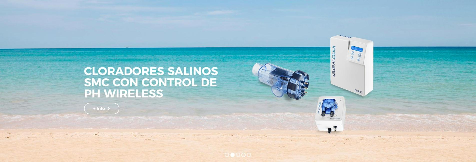 CLORADORES SALINOS SMC CON CONTROL DE PH WIRELESS